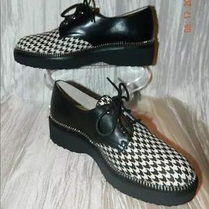 Michael Kors Vivia Houndstooth Lace Oxford Shoes